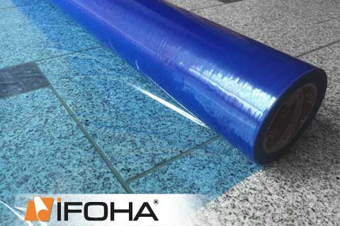 Samoprzylepna Folia Ochronna Przejrzysto Niebieska 100cm