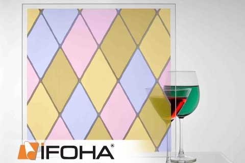 Zelfklevende hoogwaardige glas decoratie folie stained glass diamond voor toepassing op ramen for Verwijderbaar glas