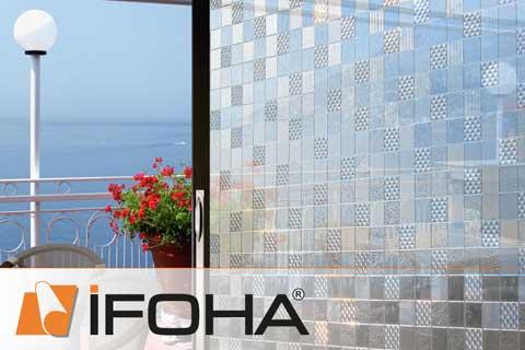 ifoha film pour fen tre adh sif statique amovible standard hf1067. Black Bedroom Furniture Sets. Home Design Ideas