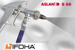 Lámina para chorro de arena - vidrio y piedra 250µ ASLAN S66