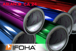 Metal effect film colour ASLAN CA24