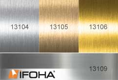 Metal effect film stainless steel-optik ASLAN CA23