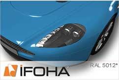 Lámina Car Wrap azul luminoso brillante HX20299B