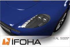 Lámina Car Wrap azul señales brillante HX20300B