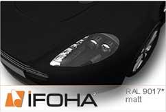 Film Car Wrap effets spéciaux noir mat HX308990M