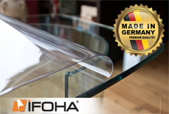Film de protection pour table transparent adhésif sans colle 1mm