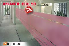 Film anti-regard à effet de sablage rouge mat ASLAN ECL50