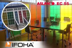 Film anti-regard à effet sablage ASLAN EC 55