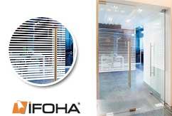 lámina decorativa para vidros Plissee rayas blancas
