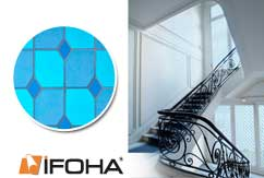 lámina decorativa para vidros stained glass azul