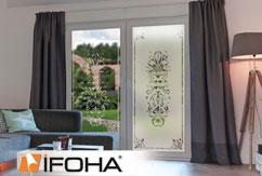 Lámina decoración para vidrios