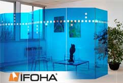 Film coloré clair autocollant <Bleu azur>