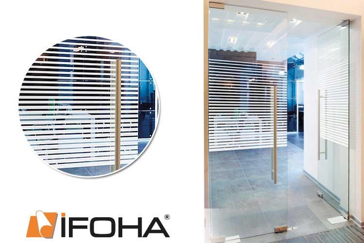 Keuken Decoratie Folie : IFOHA glas decoratie folie Plissee witte strepen, STANDARD (5003234