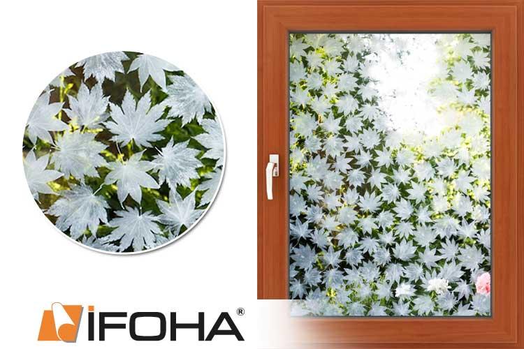 Ifoha glas decoratie folie bloemen wit mat standard 5003724 for Verwijderbaar glas